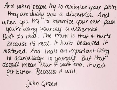 from the fault in our stars by john green